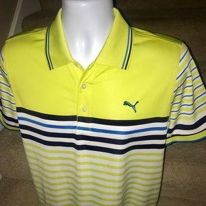 *Puma* moisture wicking men's golf polo shirt - M